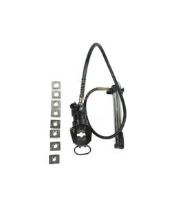 Cabeçote c/mangueira e bomba hidráulica para prensar terminais e emendas tubulares HTP-500
