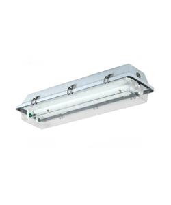 Luminaria Blindada Hermetica HO 2x110W Poliestireno (uso em ambientes corrosivos)